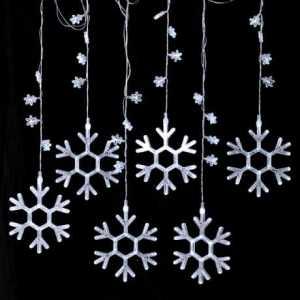6 Drop Snowflake LED Curtain