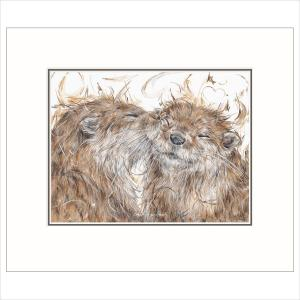 'Otterly Smitten' By Aaminah Snowdon Limited Edition Mounted Print