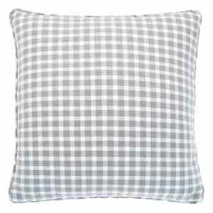 Portland Check Cushion – Dove Grey