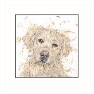 Puppy Dog Eyes' By Aaminah Snowdon Limited Edition Mounted Print