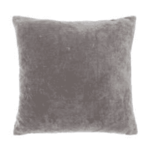 Large Velvet Cushion Feather Fill – Charcoal