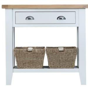 Linen Console With Baskets