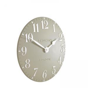 Thomas Kent 12″ Arabic Wall Clock – Pebble