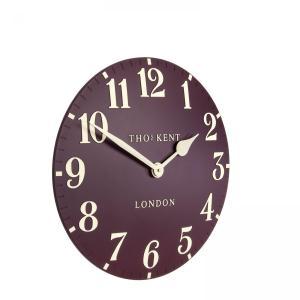 Thomas Kent 12″ Arabic Wall Clock – Berry