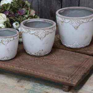 Melun Flower Pot With French Pattern H16