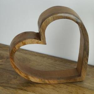 Wooden Sleeping Heart – Large