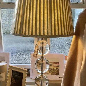 Neptune Ball Table Lamp With Pleated Shade