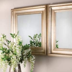 Wilton Square Mirror In Gilded Finish