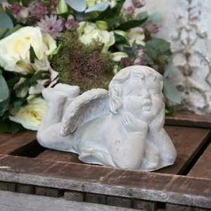 Angel Reclining – French Grey