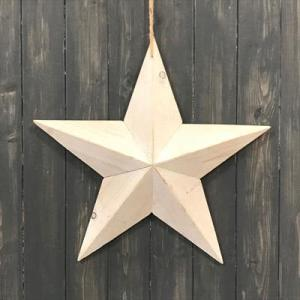 White Washed Wooden Star 49cm
