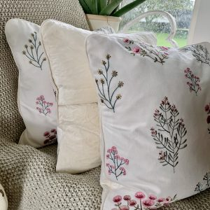 Ragdoll Home Floral Piped With Button Cushion – Summer