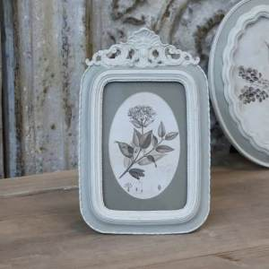 Tall Old French Frame With Rose Decor