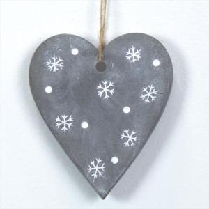 Concrete Heart With Snowflake Design