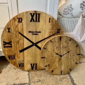 Handmade Solid Wood Clock 40cm