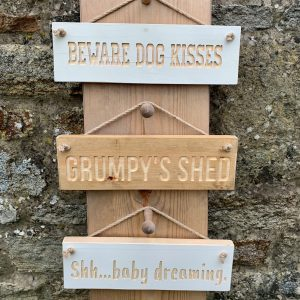 Rustic Small 30cm Wooden Sign – 'Personalised'