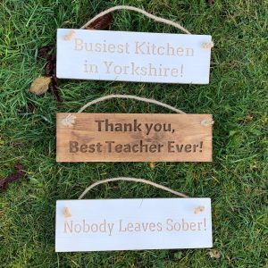 Rustic Small 30cm Wooden Sign – Busiest Kitchen In Yorkshire