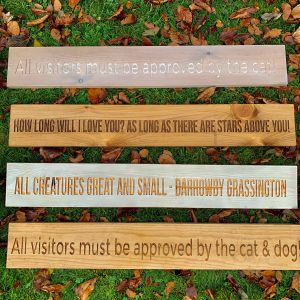 Long 80cm Wooden Plaque – All Creatures Great & Small -Darrowby/Grassington