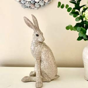 Paul Jenkins Large  Raku Turning Hare