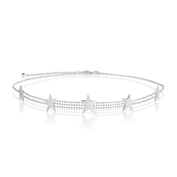 JOMA Jewellery –  Star Struck Silver Chain with Stars choker