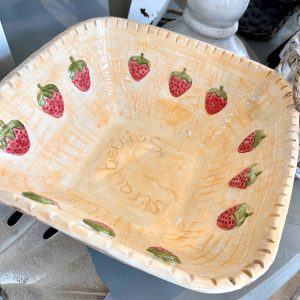 Handmade And Hand-Painted Strawberry Bowl – 3D Strawberries