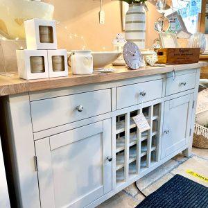 Grey Sideboard With Wine Rack