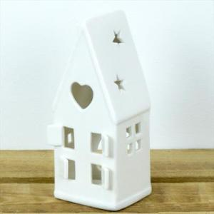 Ceramic House Tealight Holder With Heart