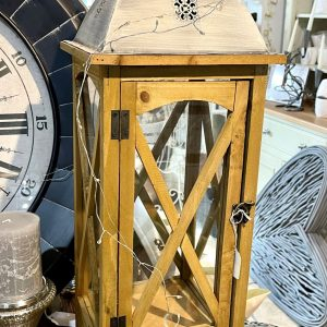 Brown Wooden Lantern
