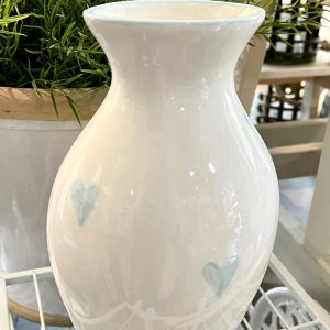 Hand-painted Tall Vase – Baby Blue