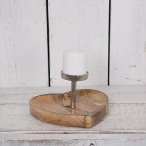 Aluminium Tealight On Wooden Base