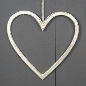 Raw Nickel Finish Heart 50 Cm