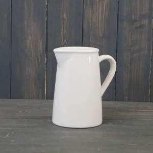 Plain White Ceramic Jug (H15.3cm)