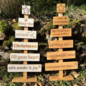 Large Rustic Wooden Christmas Tree