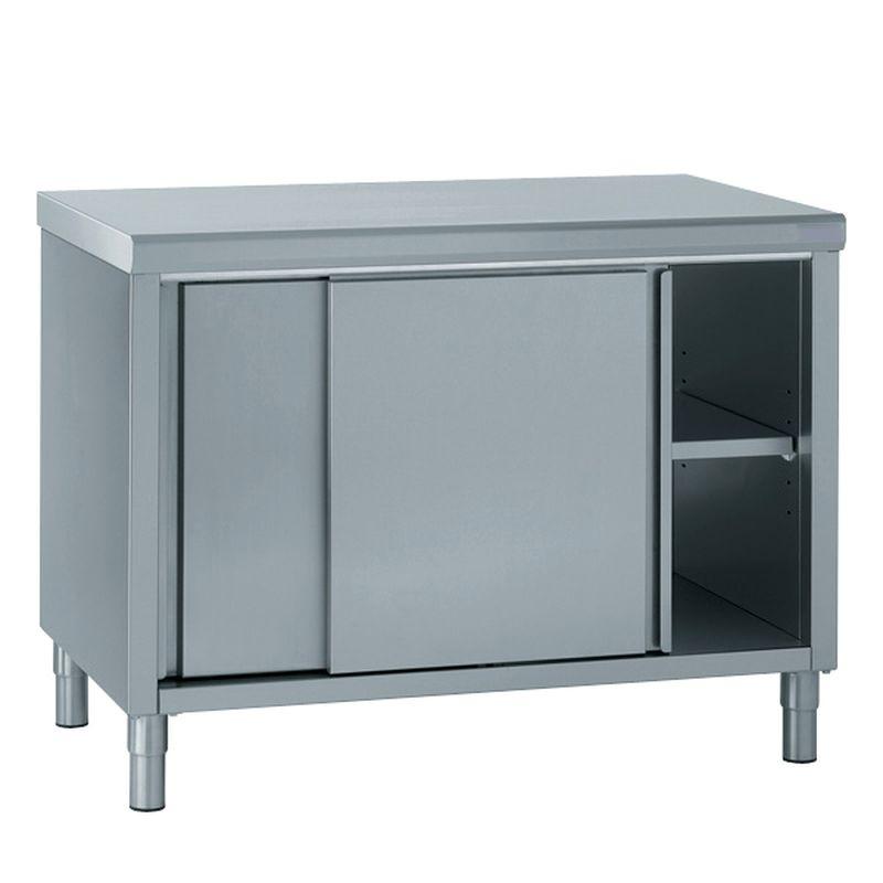meuble bas neutre central portes coulissantes