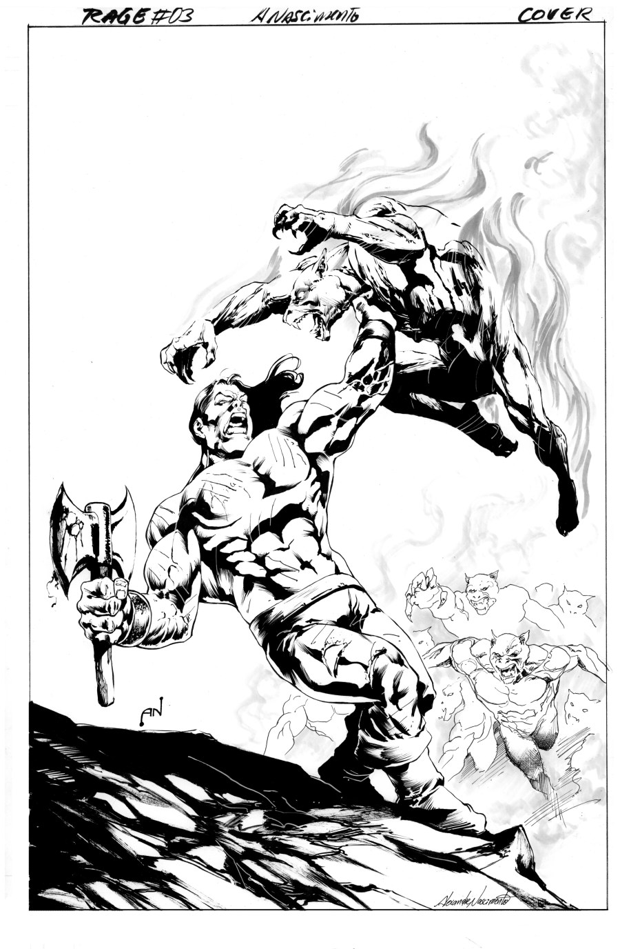 Rage #3 Cover BW