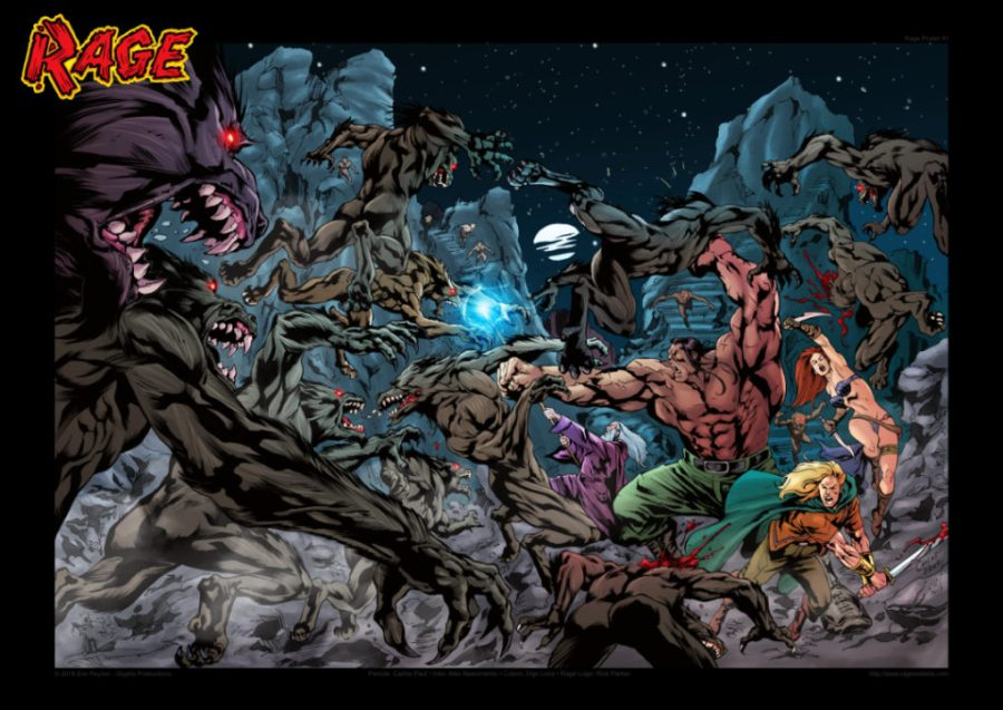 Rage Poster #1 by Carlos Paul