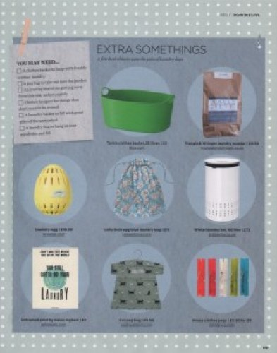 The Simple Things - March 2016 - laundry bag ragged rose