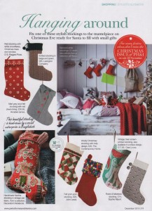 Period Home features Red Christmas Stocking
