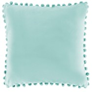 duck egg blue cushion