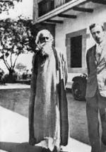 Rabindranath Tagore with Elmhirst