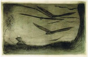 The Pursued One by Alfred Kubin (http://www.flickr.com/photos/mutantskeleton/5578562175)
