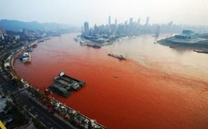 Yangtze River Turned Red
