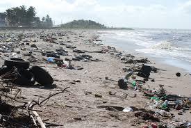 rubbish on the beach