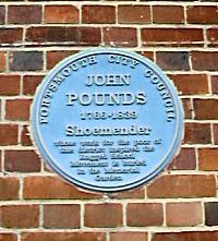 Blue Plaque of John Pounds
