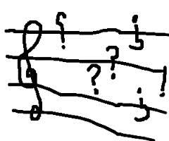 Musical question mark