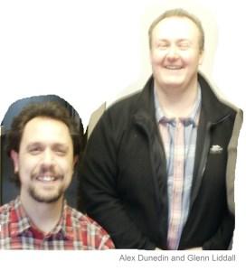 Alex Dunedin and Glenn Liddal