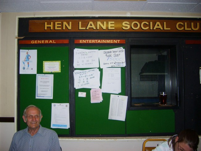 Reception Hen Lane Social Club