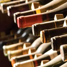Fine wine laid down in cellars