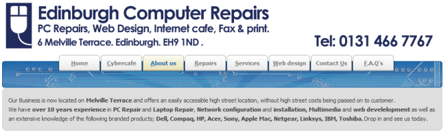 Edinburgh Computer Repairs