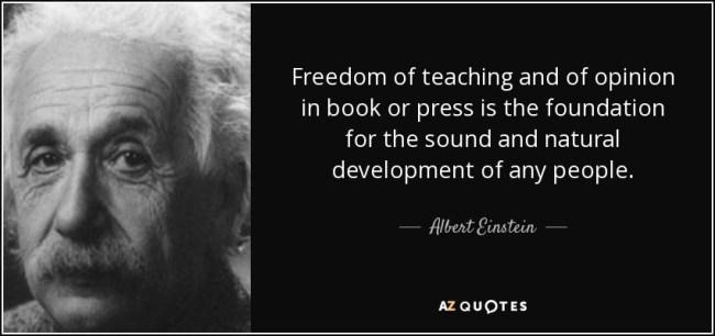 Freedom of teaching Albert Einstein