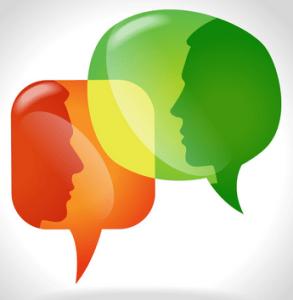 Individuals talking to indivdiuals